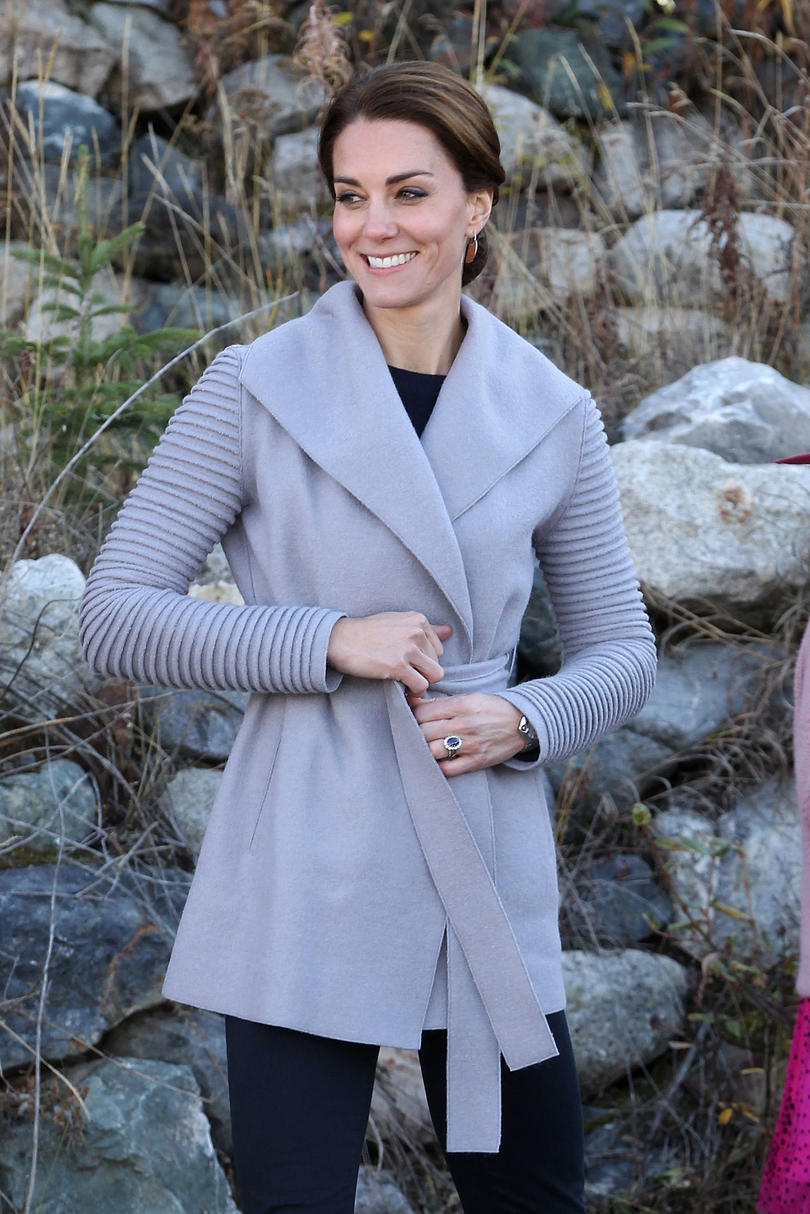 Sentaler Superfine Alpaca Wrap Coat With Ribbed Sleeves