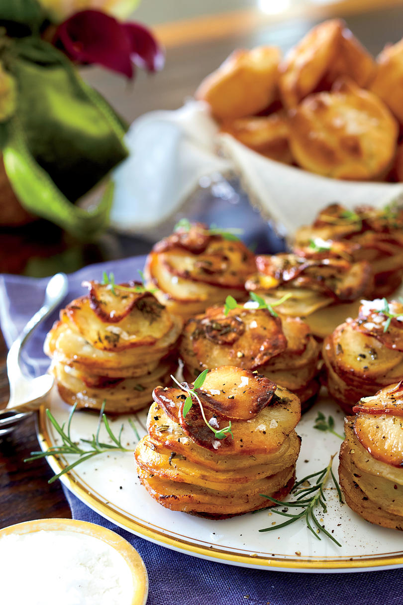 Herbed Potato Stacks Recipe