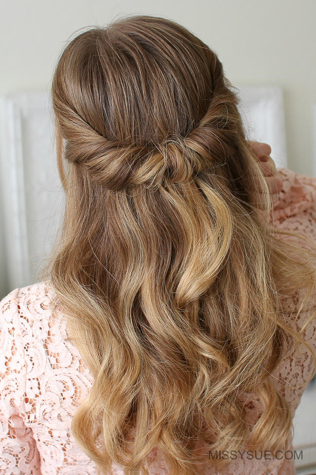 Looped Half Up-Do