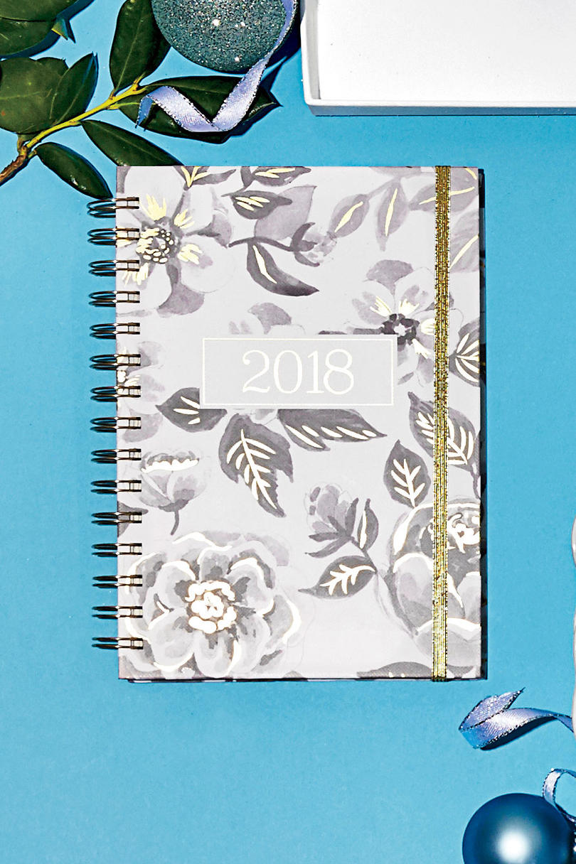 Black Floral Watercolor Planner