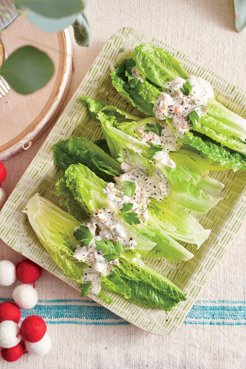 Romaine with Creamy Olive Dressing