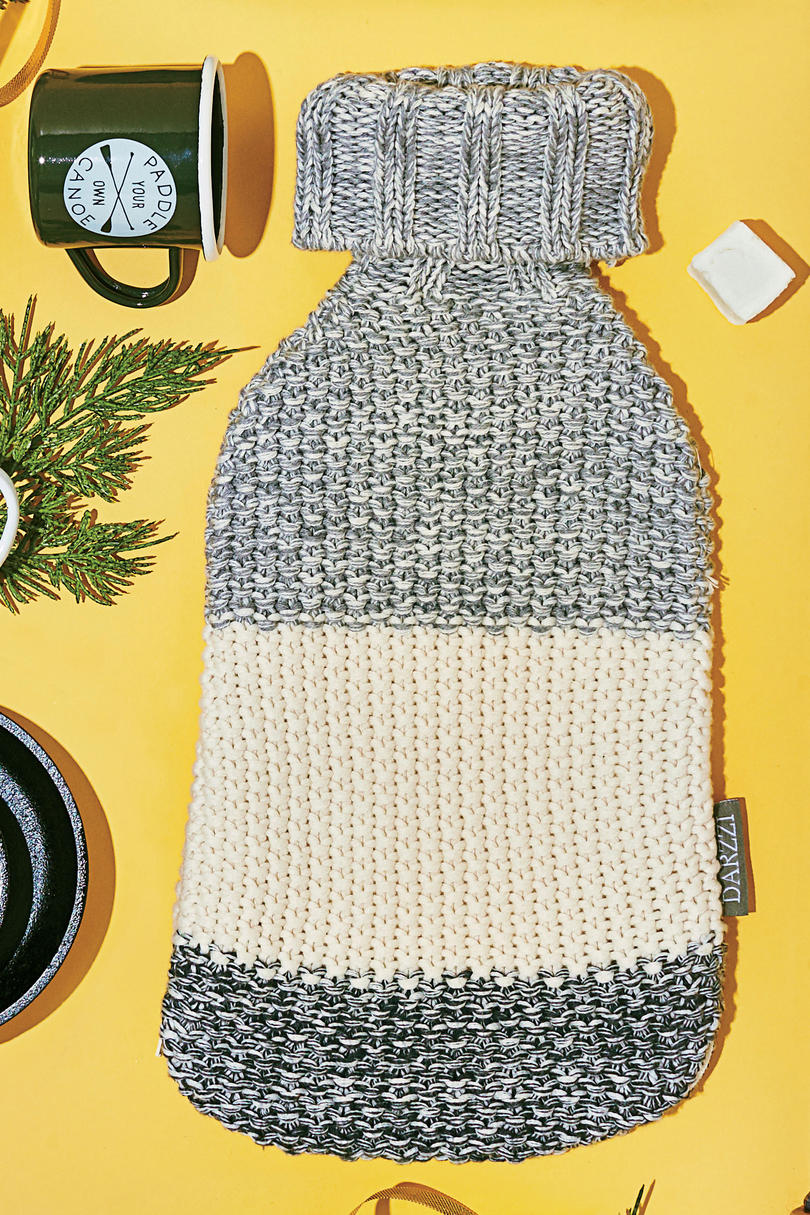 Sweater-Knit Hot Water Bottle Cover