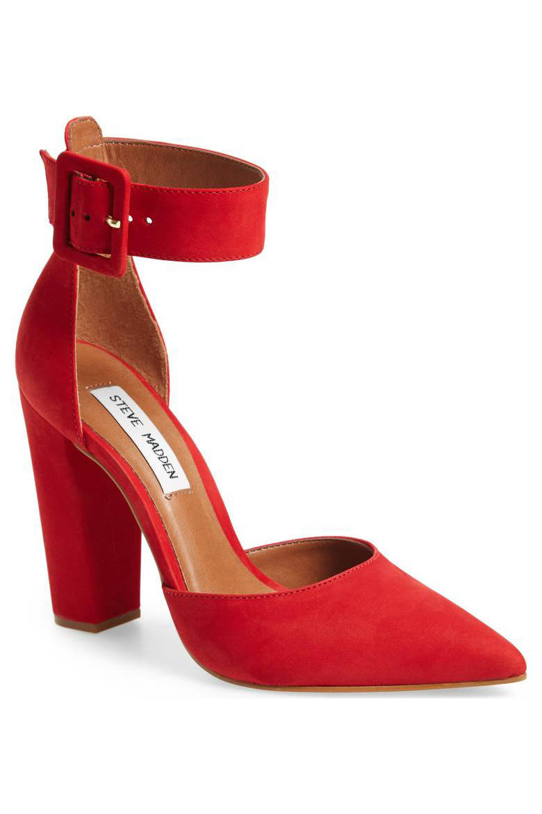 Steve Madden Ankle Strap Pointy Toe Pump