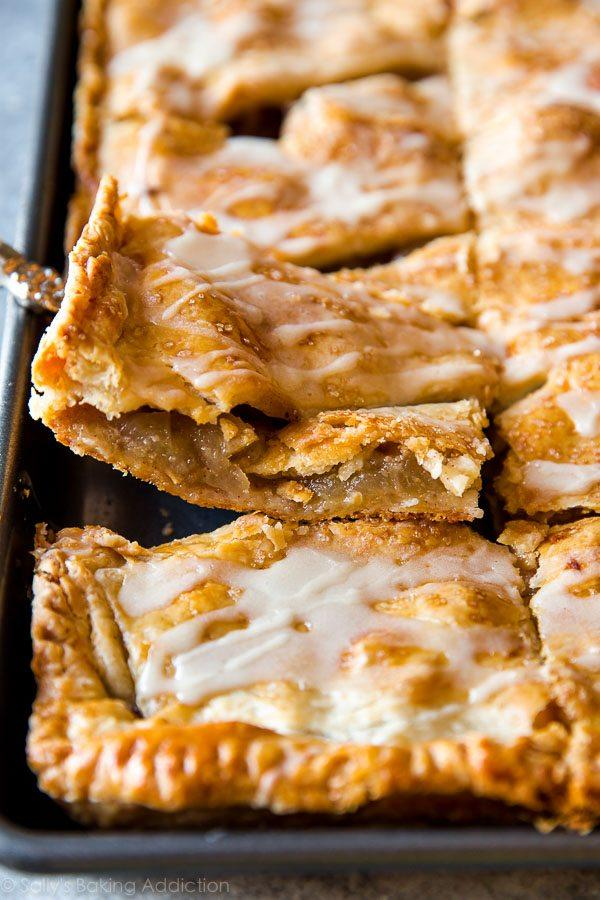 Apple Slab Pie with Maple Icing