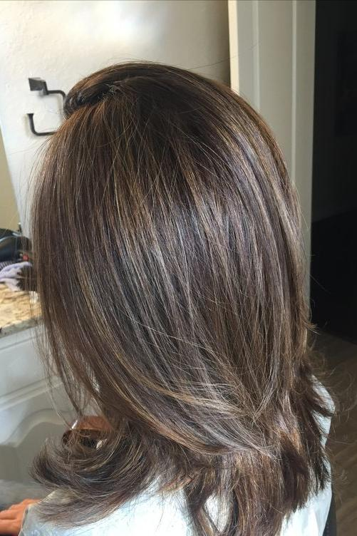 Color Highlights And Lowlights Medium Hairstyles With Short Hair