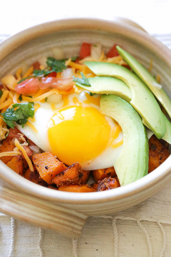 Breakfast Burrito Bowl with Spiced Butternut Squash
