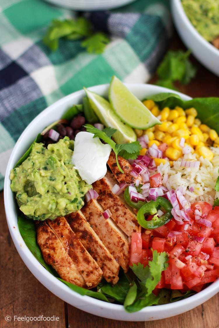 Chicken Burrito Bowl with Cilantro Lime Rice