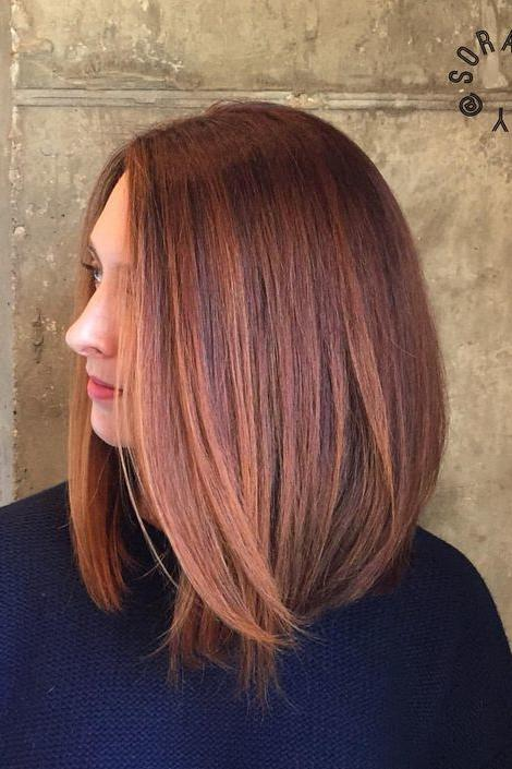 Dark Copper And Chocolate Balayage Hair