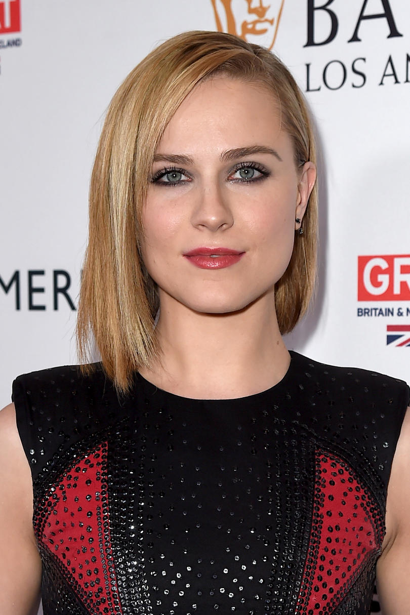 Evan Rachel Wood's Smooth Side Part