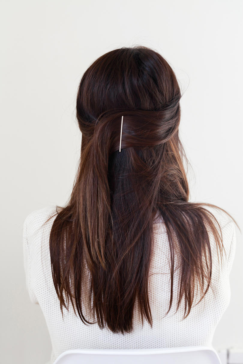 RX_1901 Half-Up Hairstyles We're Loving Right Now_Half-Up Bobby Pin