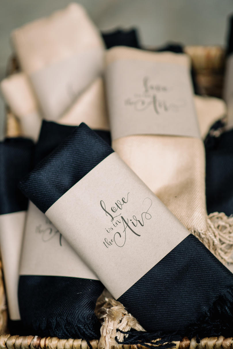 Love Is In The Air Wedding Scarfs