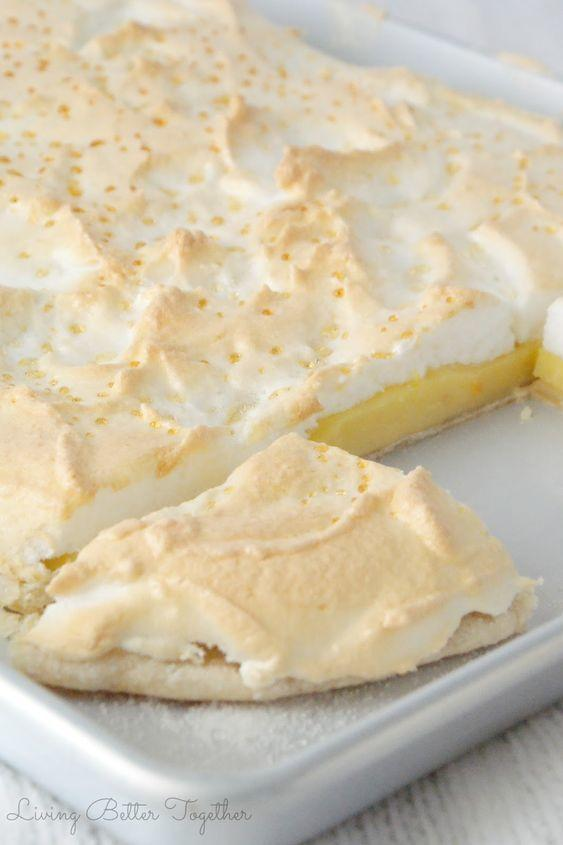 Meyer Lemon Meringue Slab Pie
