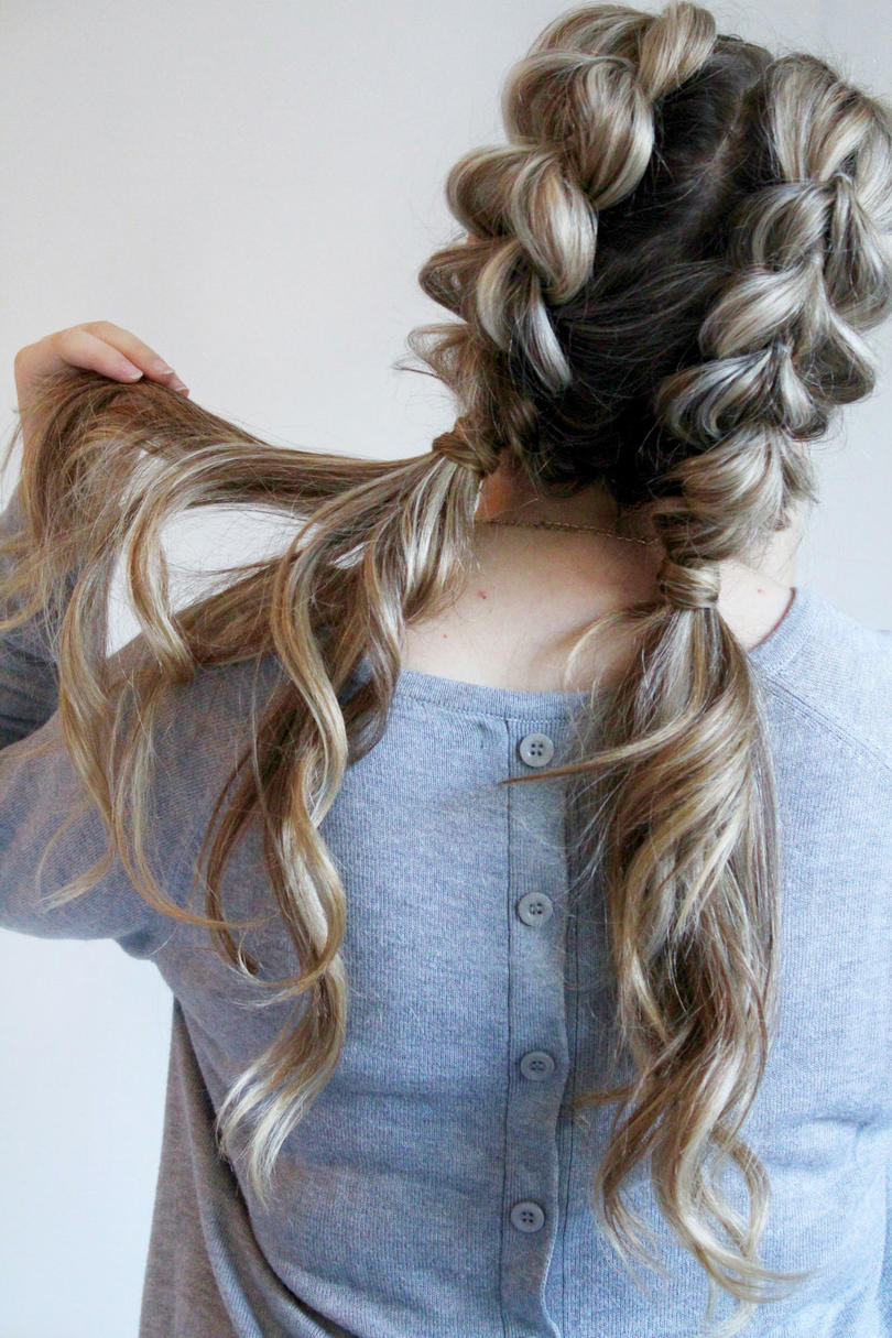 hairstyles curly hair pigtails easy styles