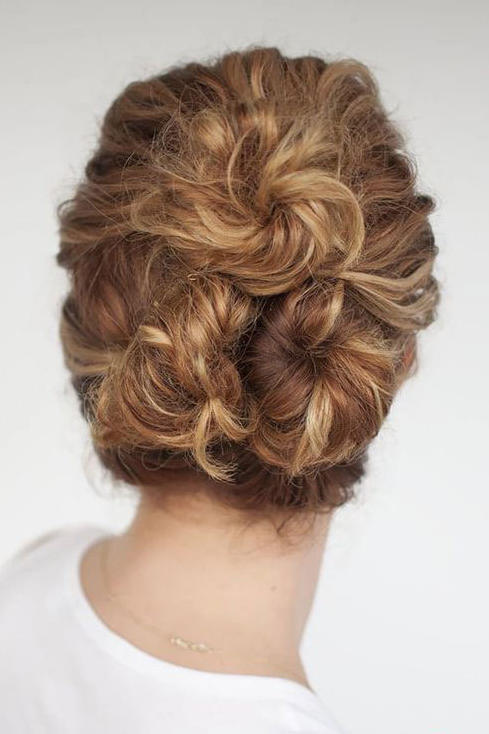 10 Festive Updos For Curly Haired Girls