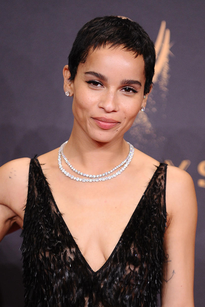 Zoë Kravitz's Feathery Crop