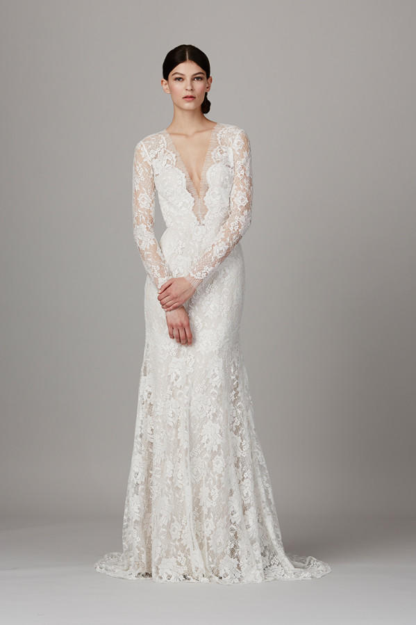 Gorgeous Long Sleeve Wedding Dresses for Winter Brides: Lela Rose 'The Canyon' Gown