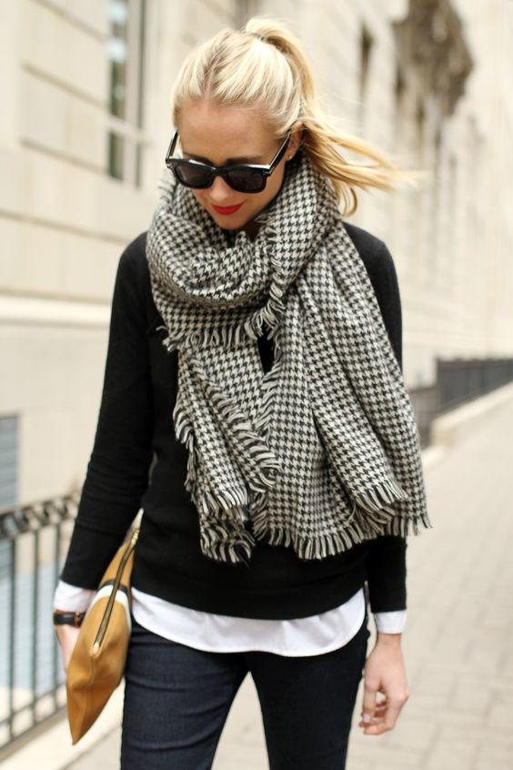 Houndstooth Scarf with Classic Accessories