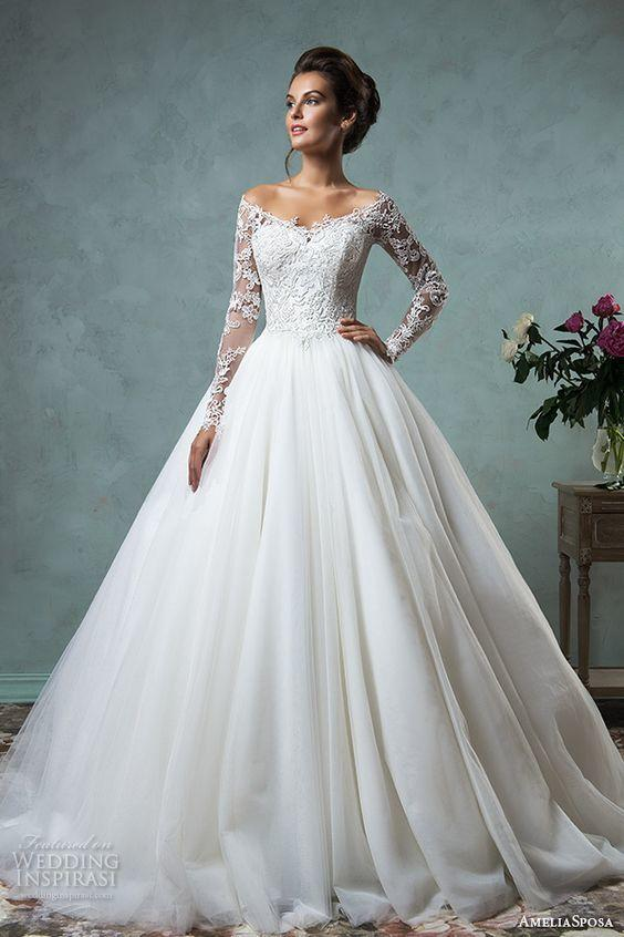 Lace and Tulle Ball Gown