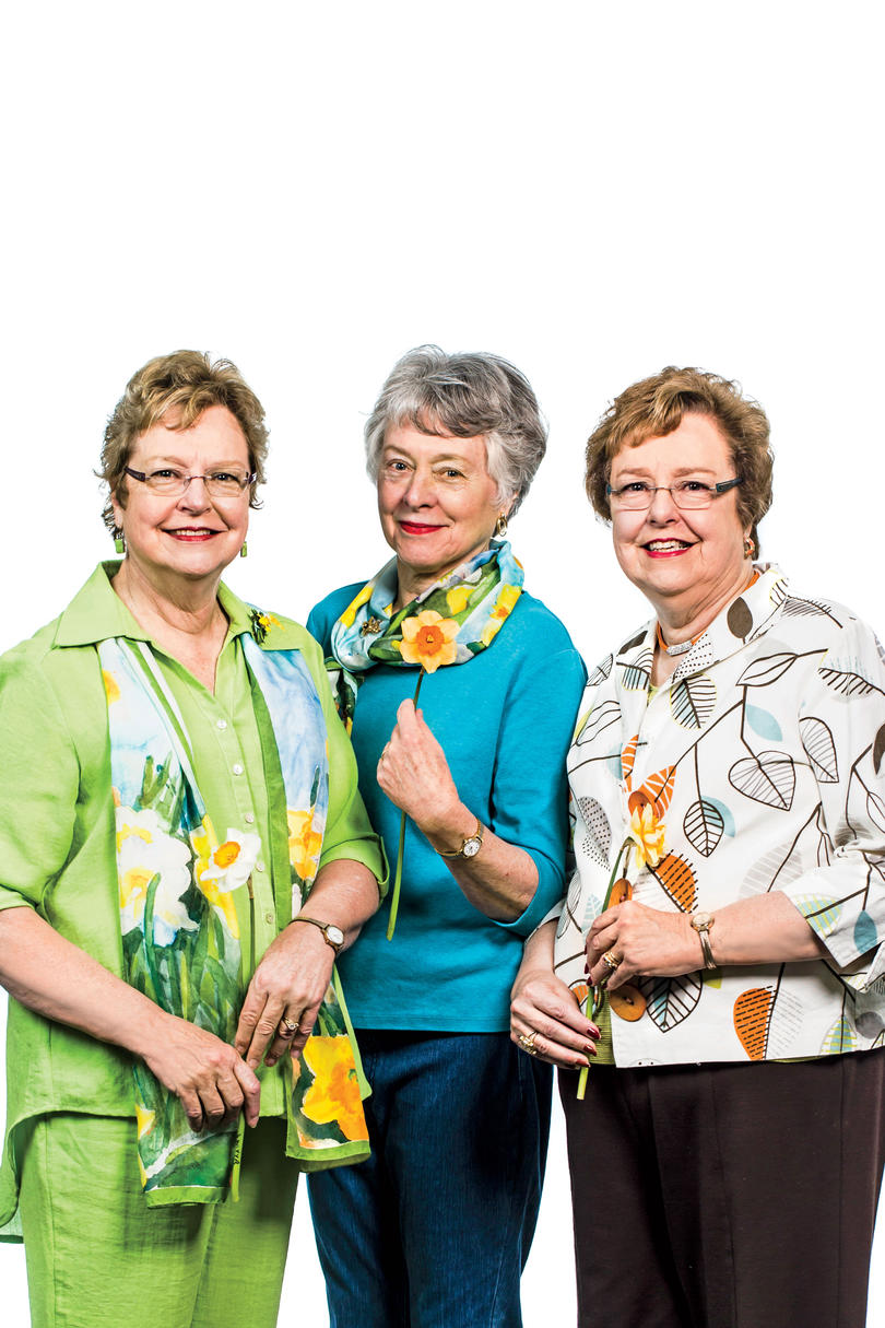 Coates Clark, Jane Vaughan, & Lucy Wilson of the Garden Center of Virginia Daffodil Show