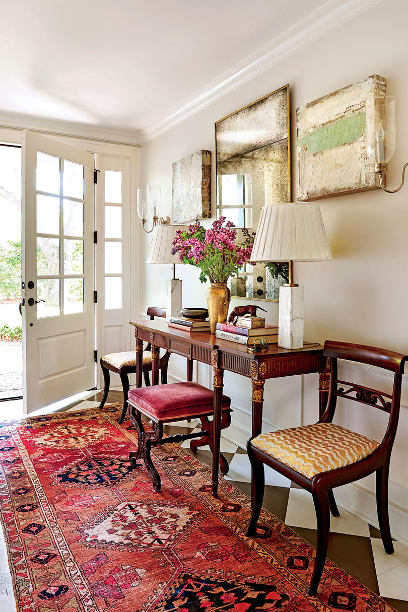 Alaina Ralph Entry Hall with Painted Floors