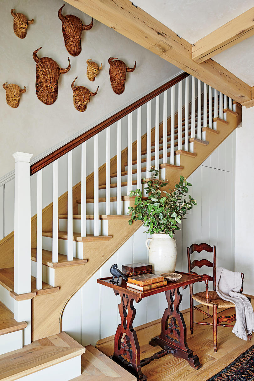 Phoebe Howard Designed Texas Hill House Stairway Entry