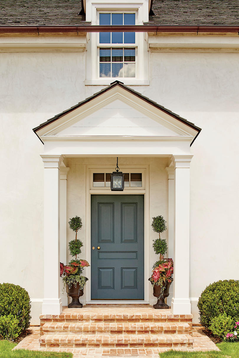 Phoebe Howard Designed Texas Hill House Curb Appeal Front Door