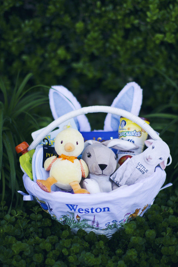 Easter basket ideas for kids teenagers and adults southern living baby boy easter basket negle Images