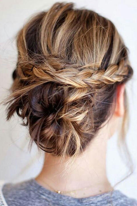 Criss-Cross Braid Bun