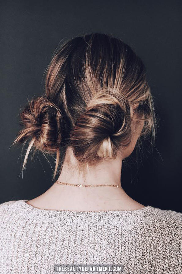 How to make your hair into two buns