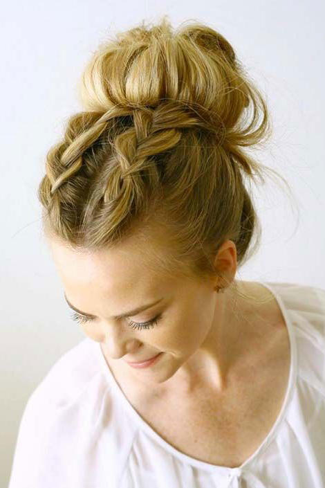 Double Dutch Braided Topknot