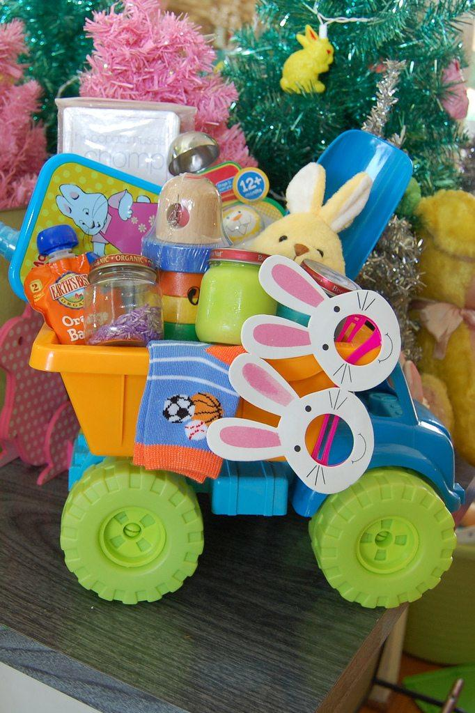 Dump Truck Easter Basket for Baby