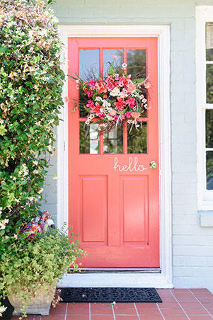 Cheery Hello & Pink Front Doors That Have Us Begging for Spring - Southern Living