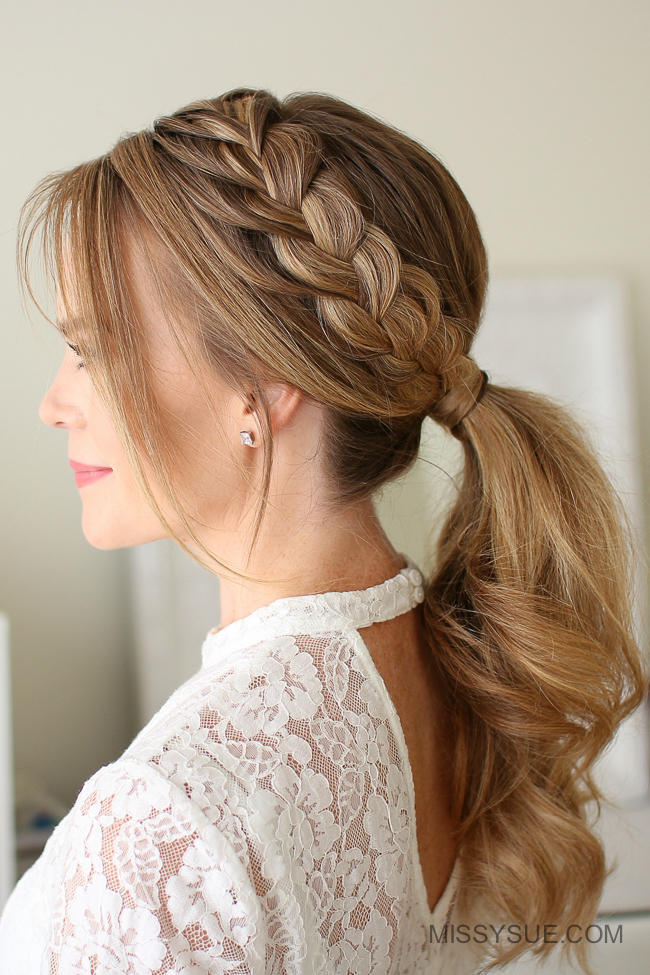 beauty hair style video hair ideas to see before you go southern living 8124 | lace braid ponytail