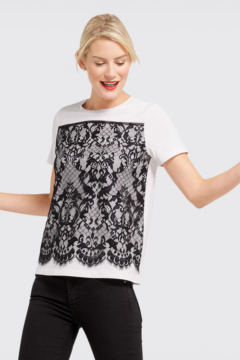 Lace Panel Tee