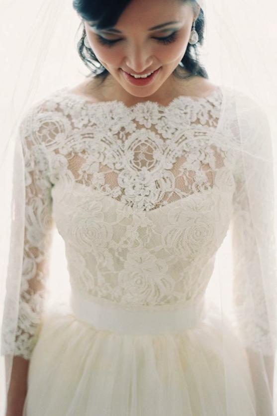 Gorgeous long sleeve wedding dresses for winter brides southern living long sleeve lace cover up junglespirit Choice Image