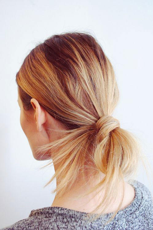 Looped Ponytail Bun