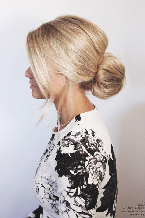 Low Bun for Short Hair