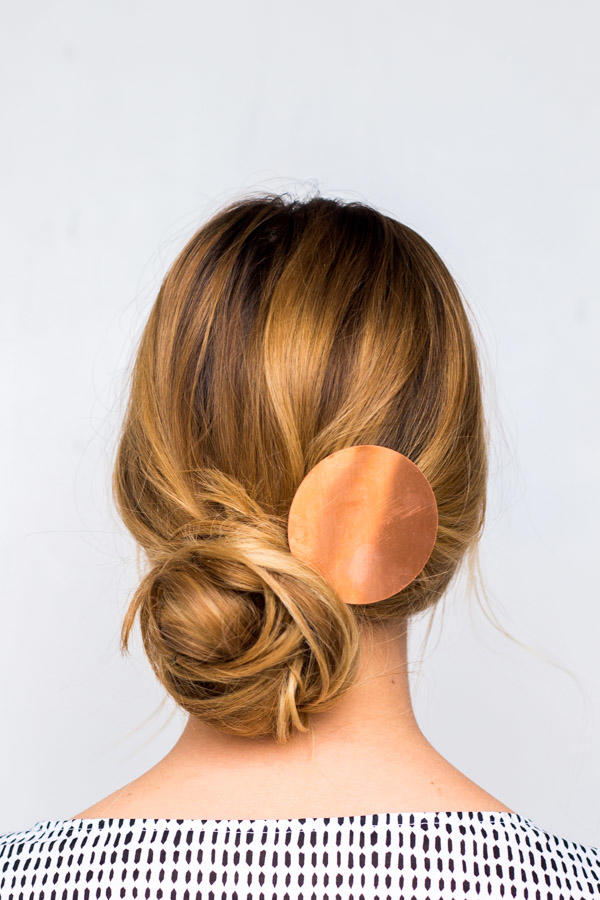 Messy Side-Swept Chignon