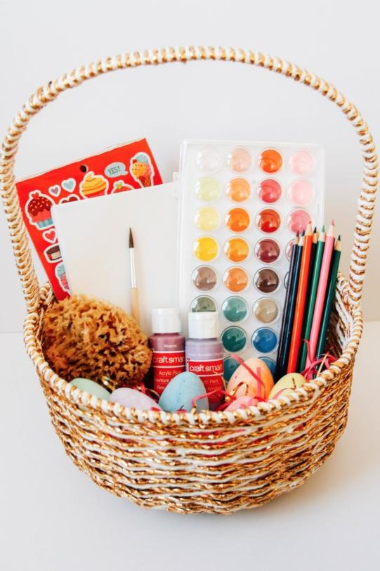 Easter basket ideas for kids teenagers and adults southern living modern easter basket for the young artist negle Image collections