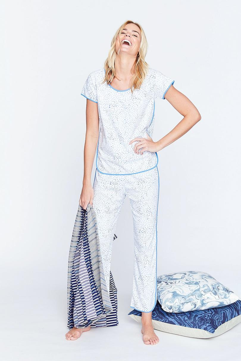 Flurry Ocean Short-Long Pajama Set