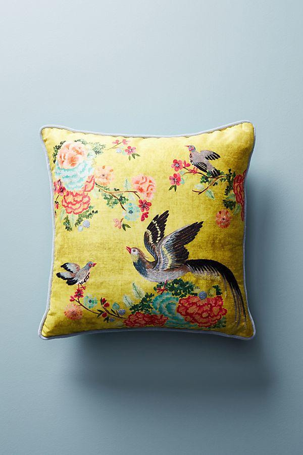 Embellished Birds Pillow