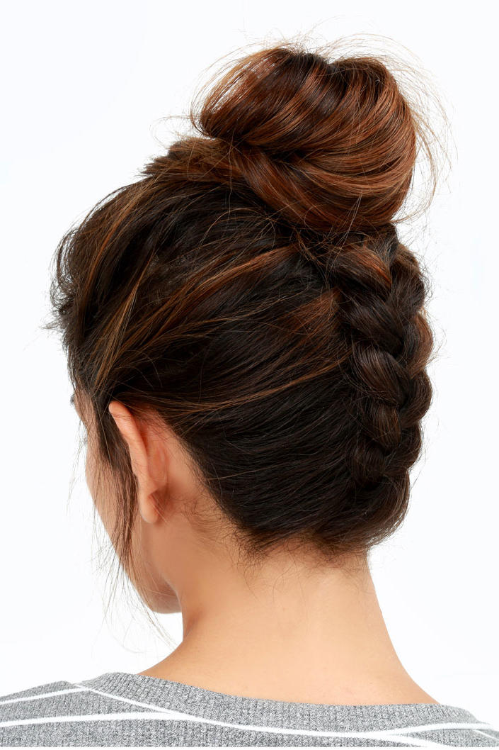 Reverse Braided Topknot