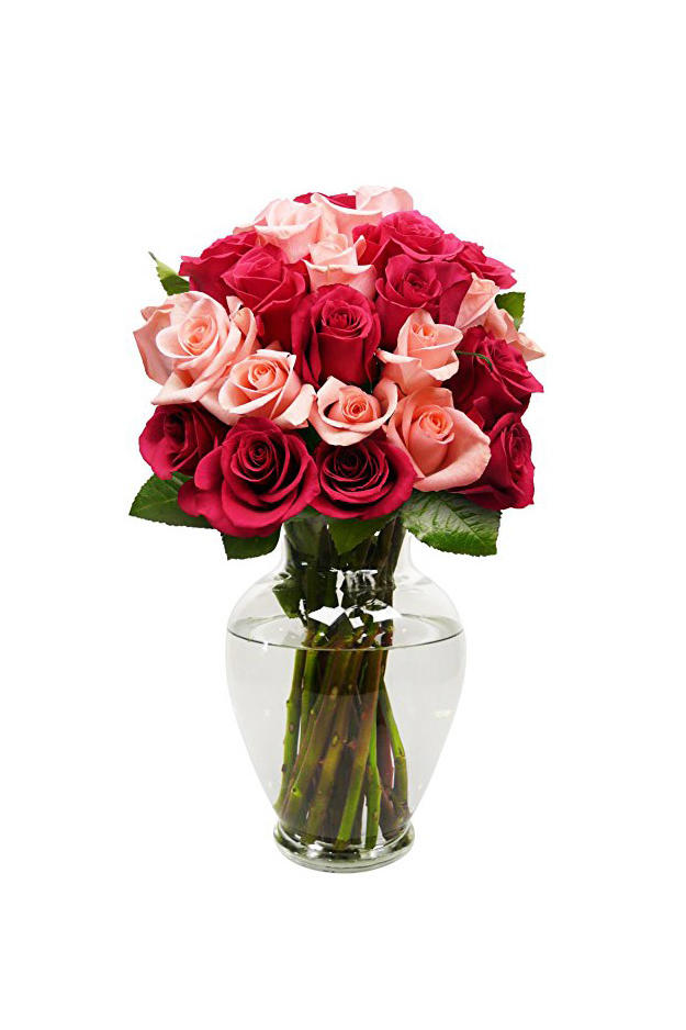 Benchmark Bouquets 2 Dozen Blushing Beauty Roses