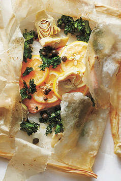 RX_1801_Parchment Packet Recipes_Kale, Lemon, Artichoke, and Caper Fish Packets