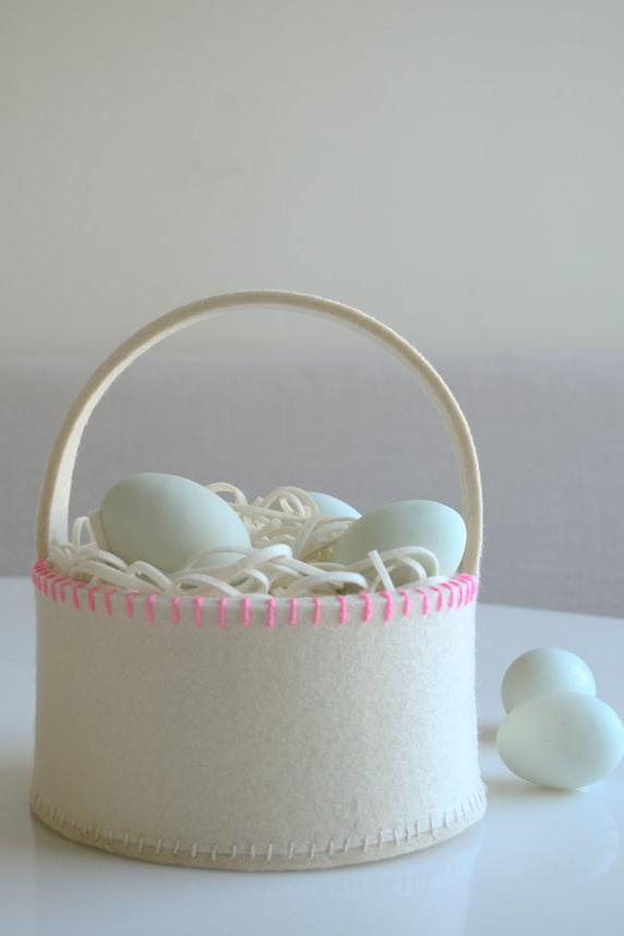 Easter basket ideas for kids teenagers and adults southern living super simple felt easter basket negle Gallery