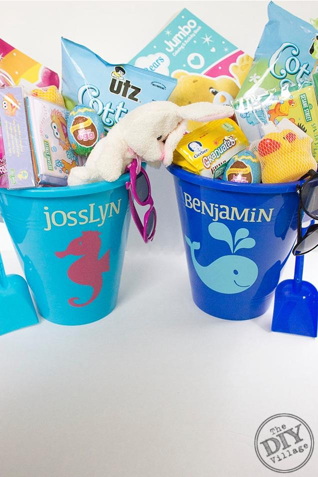 Toddler Beach Bucket Easter Baskets