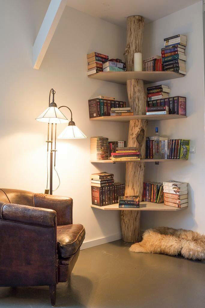 Tree Trunk Shelf
