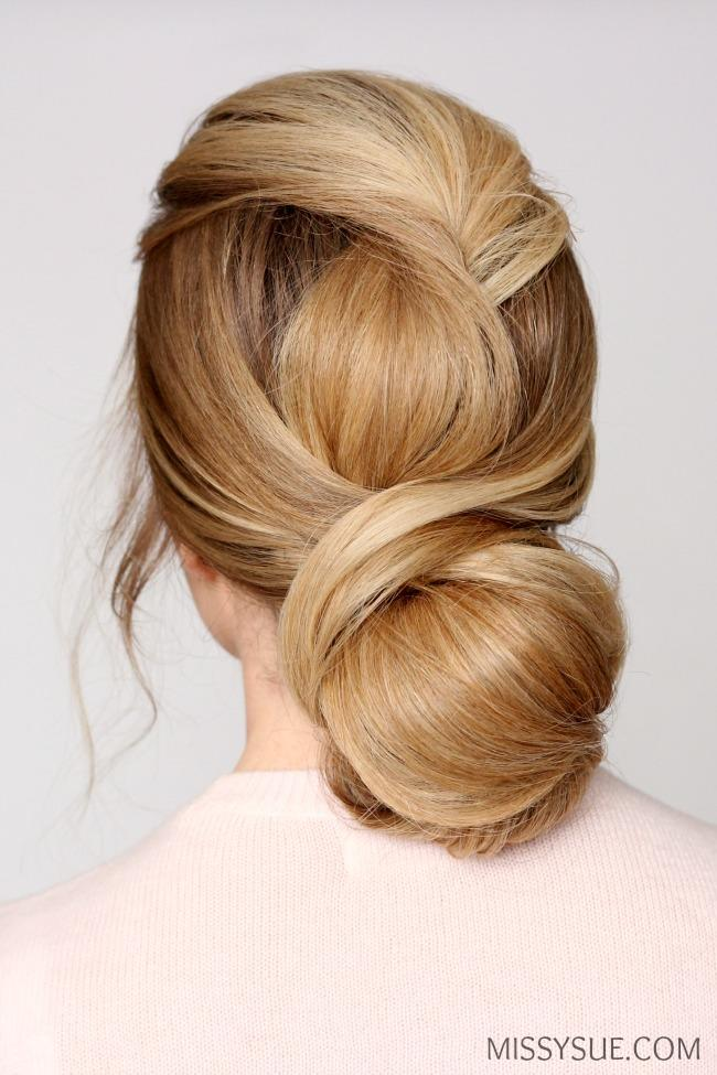 Wrapped Low Bun Updo