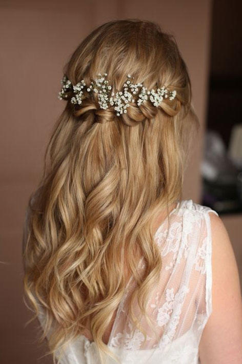 Waterfall Braid Half Up