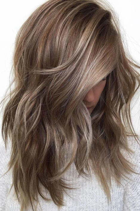 Ashy Brown with Blonde Balayage